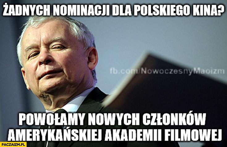 Żadnych nominacji dla polskiego kina? Powołamy nowych członków amerykańskiej akademii filmowej Kaczyński