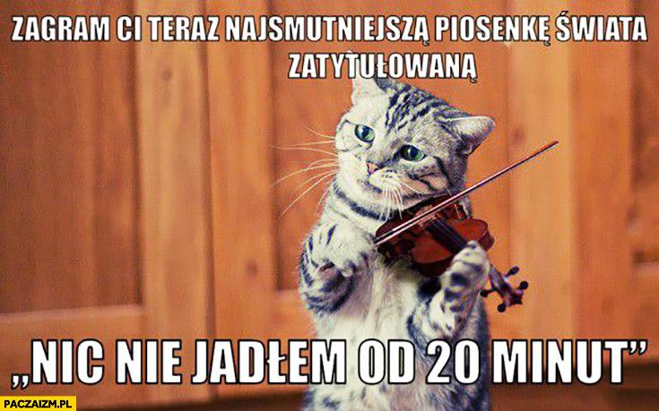 Zagram Ci teraz najsmutniejszą piosenkę świata zatytułowaną nic nie jadłem od 20 minut kot