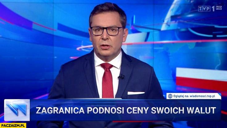 Zagranica podnosi ceny swoich walut pasek Wiadomości TVP
