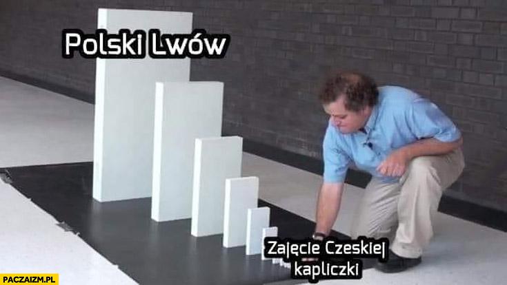 Zajęcie Czeskiej kapliczki przez polskich żołnierzy domino polski Lwów