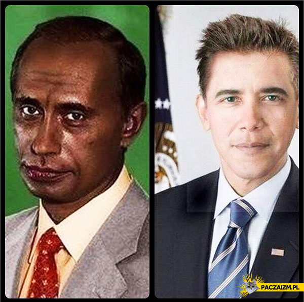 Zamiana kolorów twarzy – Putin i Obama