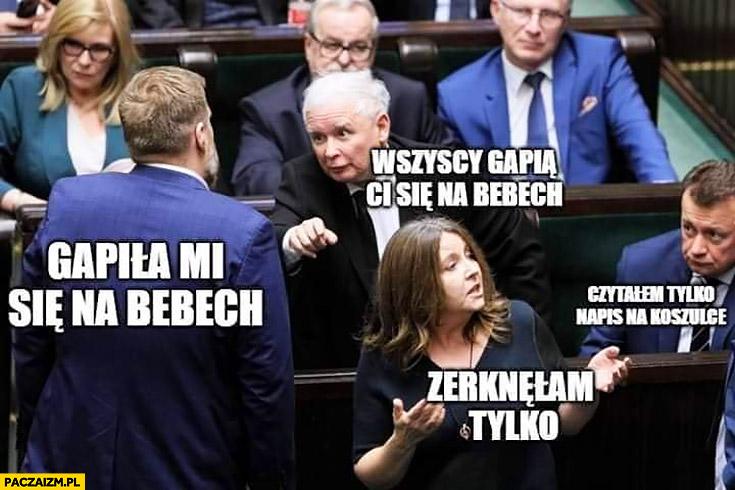 Zandberg gapiła mi się na bebech, zerknęłam tylko Lichocka Kaczyński afera w sejmie