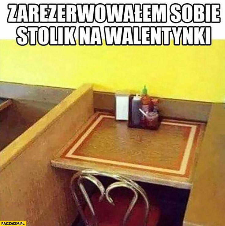 Zarezerwowałem sobie stolik na walentynki dla singla