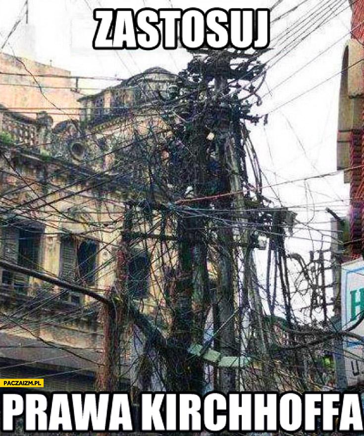 Zastosuj prawo kirchhoffa kable