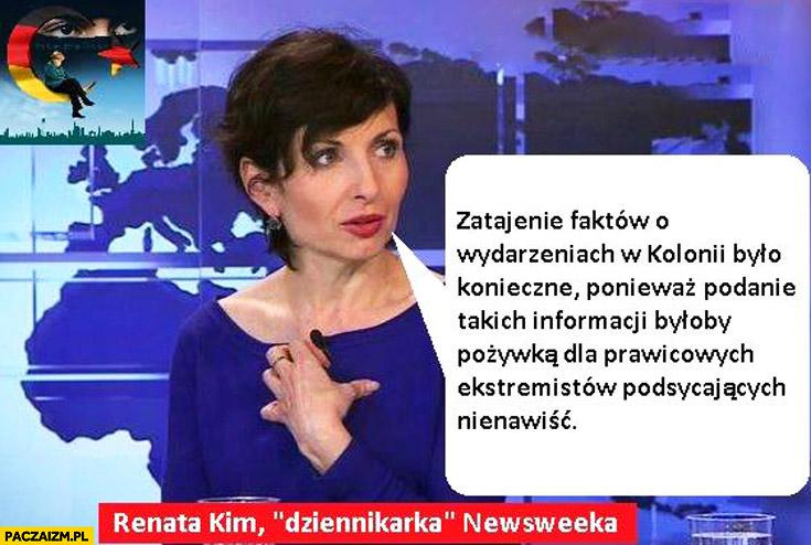 Zatajenie faktów o wydarzeniach w Kolonii było konieczne bo to pożywka dla prawicowych ekstremistów Renata Kim Newsweek