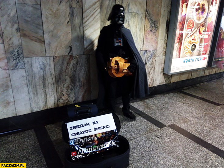 Zbieram na Gwiazdę Śmierci Darth Vader uliczny grajek