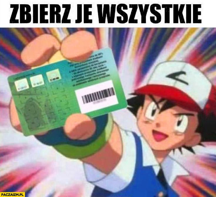 Zbierz je wszystkie naklejki na legitymacji studenckiej Ash Pokemon