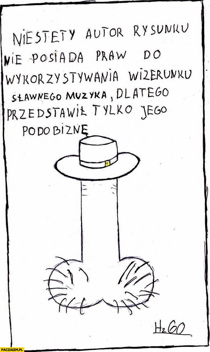 Zbigniew Hold Zbyszek męskie narządy w kapeluszu niestety autor rysunku nie posiada praw do wykorzystywania wizerunku sławnego muzyka dlatego przedstawił tylko jego podobiznę