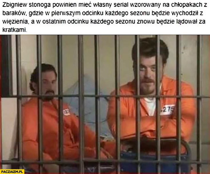 Zbigniew Stonoga powinien mieć własny serial wzorowany na Chłopakach z Baraków gdzie na początku sezonu wychodzi z więzienia a w ostatnim odcinku będzie lądował za kratkami