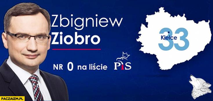 Zbigniew Ziobro numer 0 na liście PiS reklama plakat wyborczy