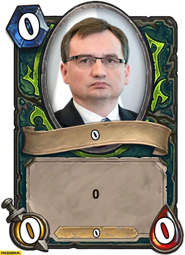Zbigniew Ziobro zero karta Hearthstone