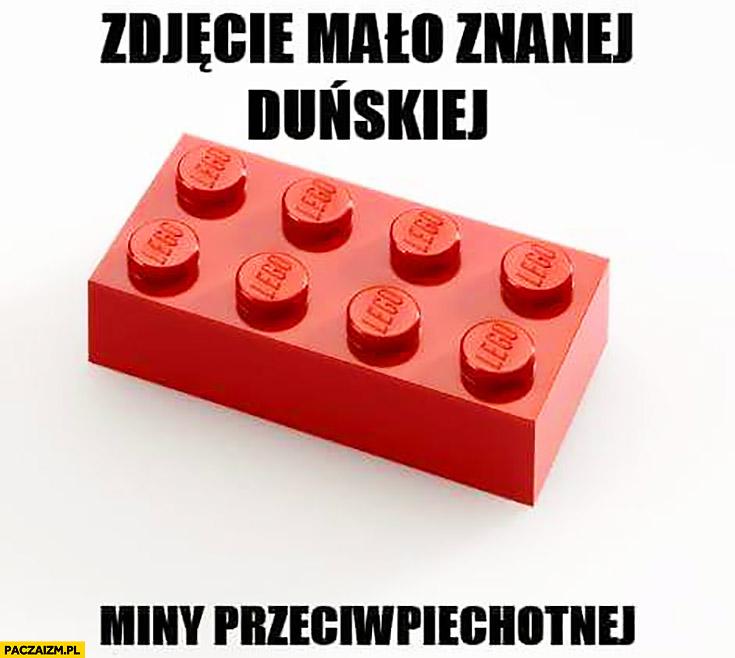 Zdjęcie mało znanej Duńskiej miny przeciwpiechotnej klocek LEGO