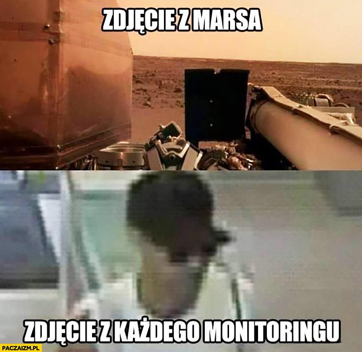Zdjęcie z marsa vs zdjęcie z każdego monitoringu gorsza jakość