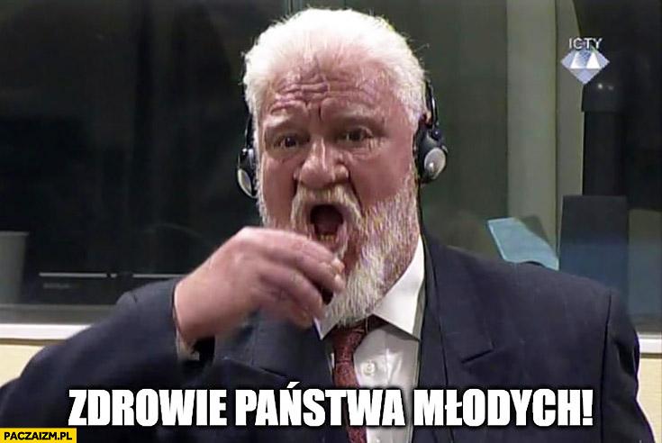 Zdrowie państwa młodych wesele Slobodan Praljak pije truciznę samobójstwo