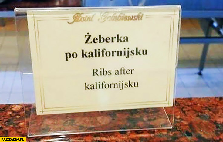 Żeberka po kalifornijsku ribs after kalifornijsku