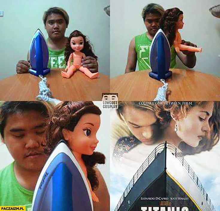Żelazko lalka plakat filmu Titanic cosplay