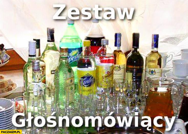 Zestaw głośnomówiący alkohol