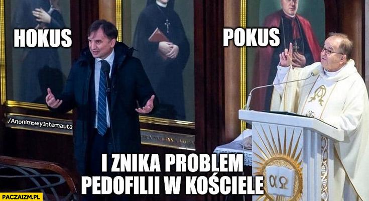 Ziobro Rydzyk hokus pokus i znika problem pedofilii w kościele