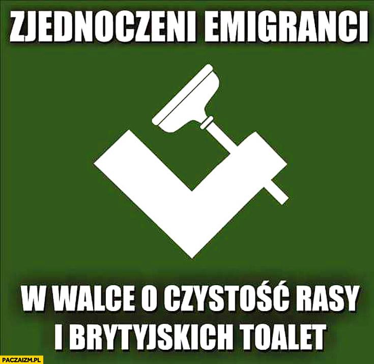 Zjednoczeni emigranci w walce o czystość rasy brytyjskich toalet
