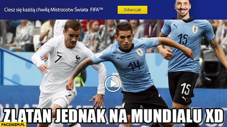 Zlatan jednak na mundialu głowa z reklamy doklejona do piłkarza