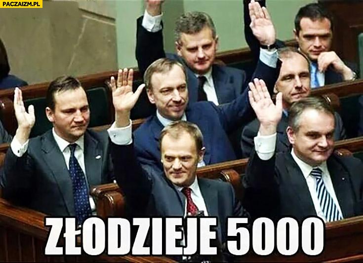 Złodzieje 5000 Platforma Obywatelska PO w sejmie