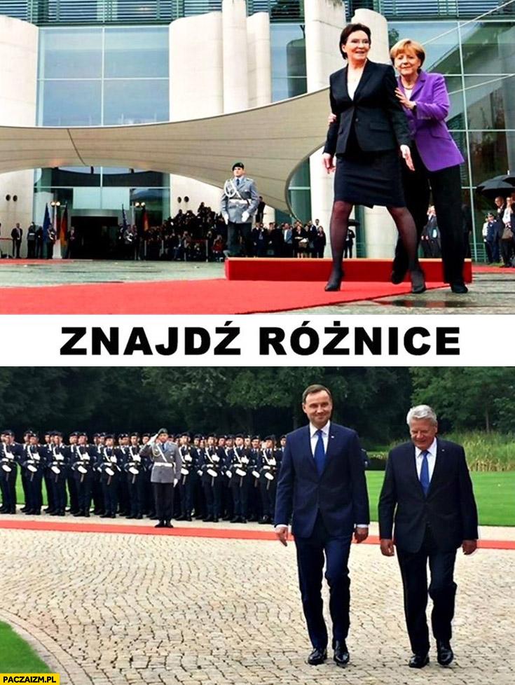Znajdź różnicę Merkel Kopacz Duda