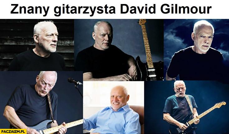 Znany gitarzysta David Gilmour Dziwny pan ze stocku