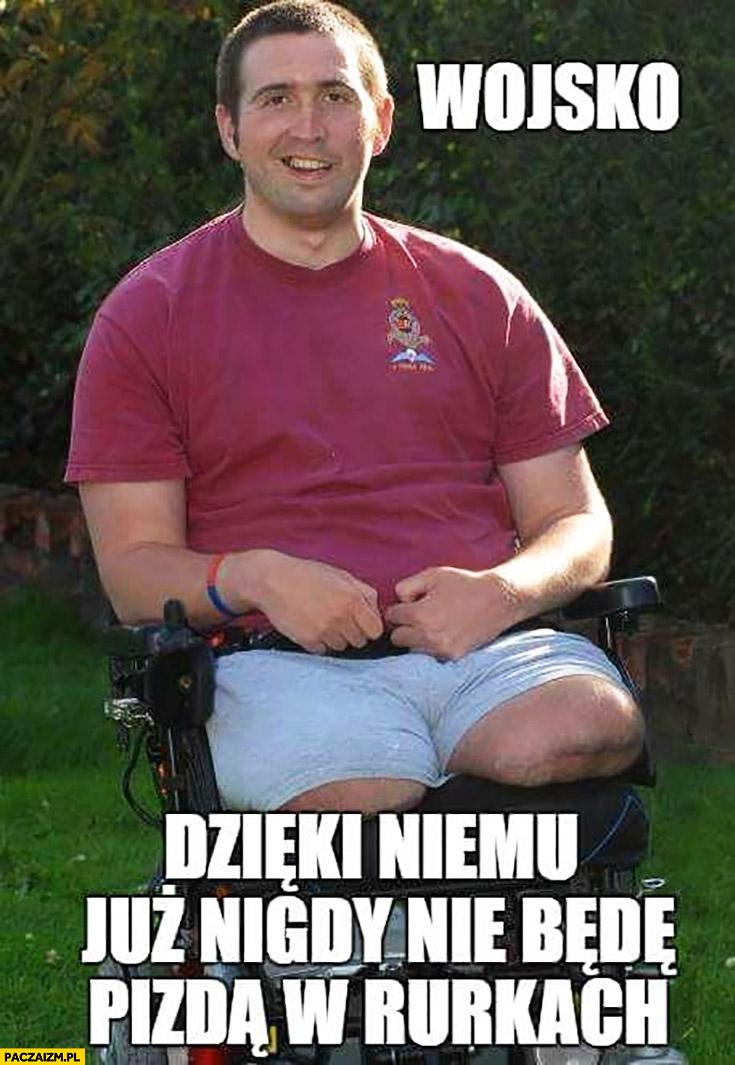Żołnierz bez nogi wojsko dzięki niemu już nigdy nie będę picza w rurkach
