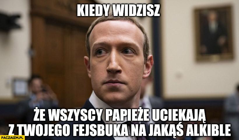Zuckerberg kiedy widzisz, że wszyscy papieże ociekają z Twojego fejsbuka na jakąś Albicle