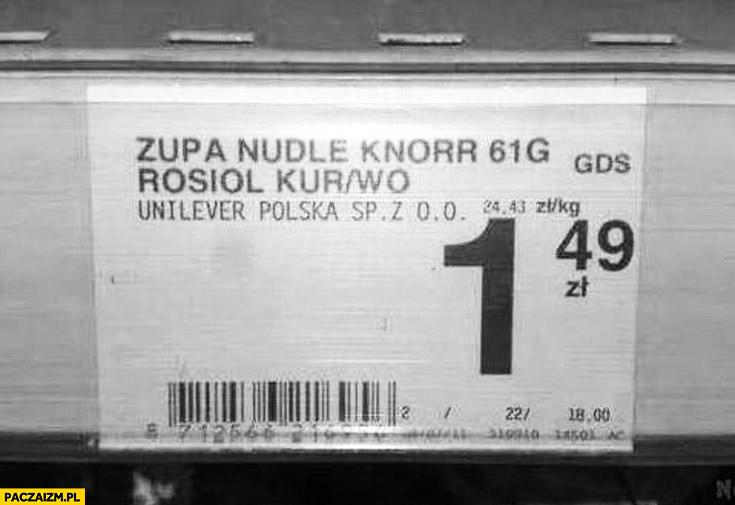 Zupa Nudle Knorr Rosiol kur/wo kurczak wołowina